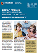an image of the first page of the everyday decisions research spotlight