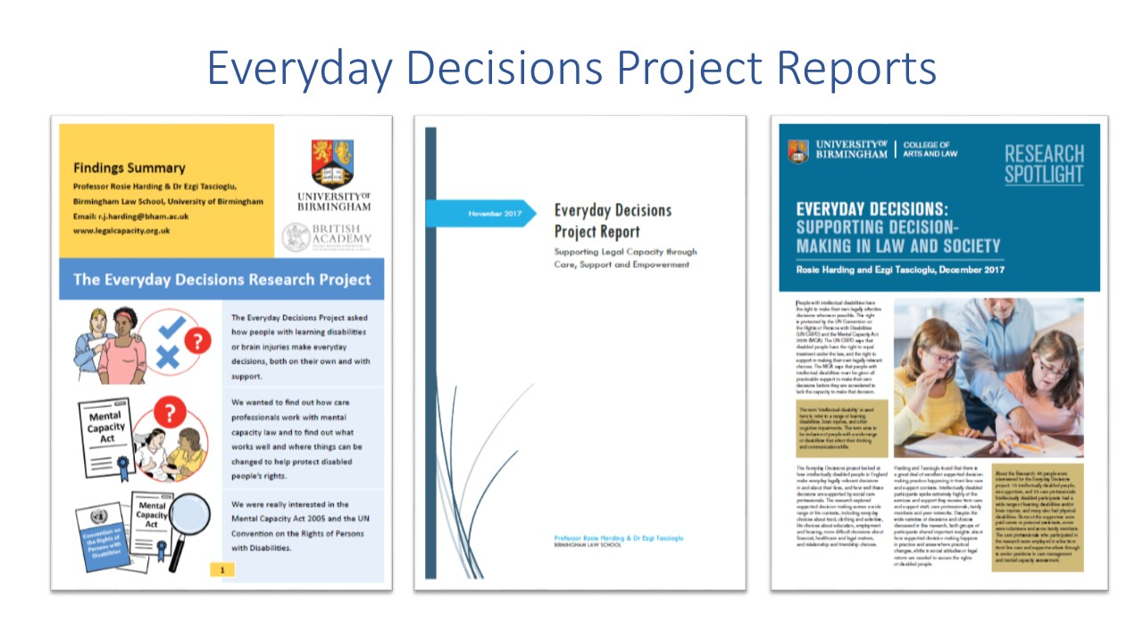 An image showing the first page of the 3 everyday decisions project reports