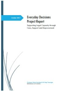 Image of front page of the Everyday Decisions Project Report